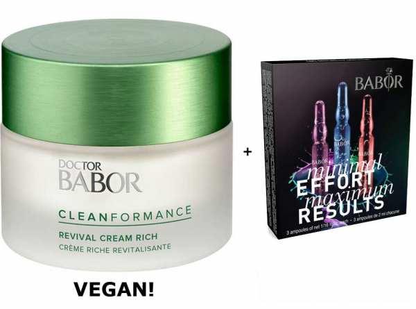DOCTOR BABOR Cleanformance Revival Cream Rich - stärkt die Hautbarriere und wirkt der Hautermüdung e