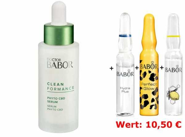 DOCTOR BABOR Cleanformance Phyto CBD Serum - zur sofortigen Beruhigung gestresster Haut