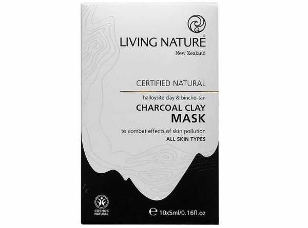 Living Nature Bincho Tan Kohle-Tonerde Maske
