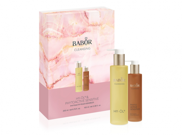 BABOR CLEANSING HY-ÖL 200 ml & Phytoactive Sensitive 100 ml - empfindliche Haut, Preisvorteil