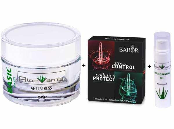 AloeVernis® BASIC aloe vera ANTI STRESS mask 50 ml - BABOR AMPOULE CONCENTRATES Stress Control + Pol