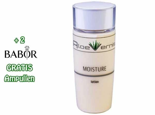 AloeVernis® BASIC aloe vera MOISTURE lotion 120 ml - Hyaluron, Collagen, Arganöl + 2 GRATIS Ampullen