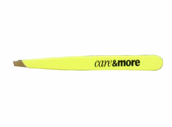 Pinzette mit schräger Pinzettenspitze GELB von CareMore
