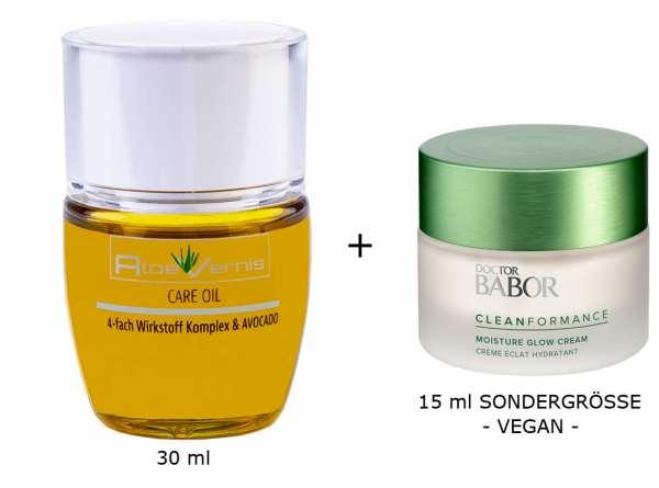 AloeVernis® BASIC aloe vera CARE OIL - Serum 30 ml - DOCTOR BABOR Cleanformance Moisture Glow Day Cr