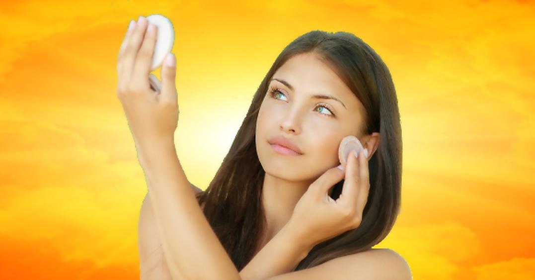 Bronze Puder und Sonnen Make-Up
