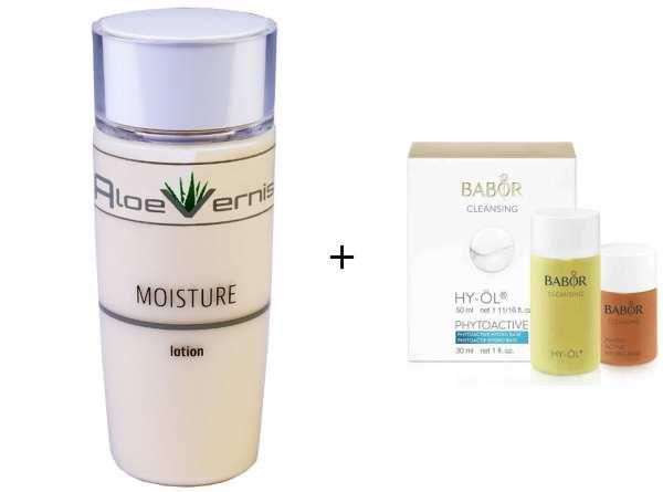 AloeVernis® BASIC aloe vera MOISTURE lotion 120 ml - BABOR CLEANSING HY-ÖL 50 ml & Phytoactive Hydro