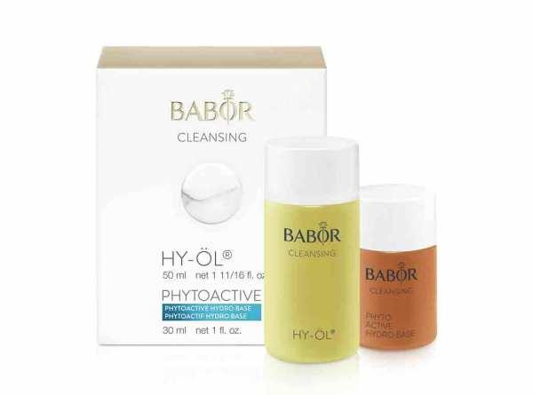 BABOR CLEANSING HY-ÖL 50 ml & Phytoactive Hydro Base 30 ml - trockene Haut, Sondergröße