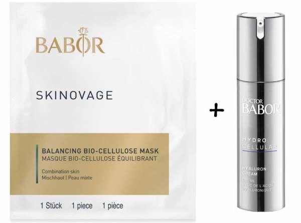 BABOR SKINOVAGE Balancing Bio-Cellulose Maske 5 Stück - für Mischhaut