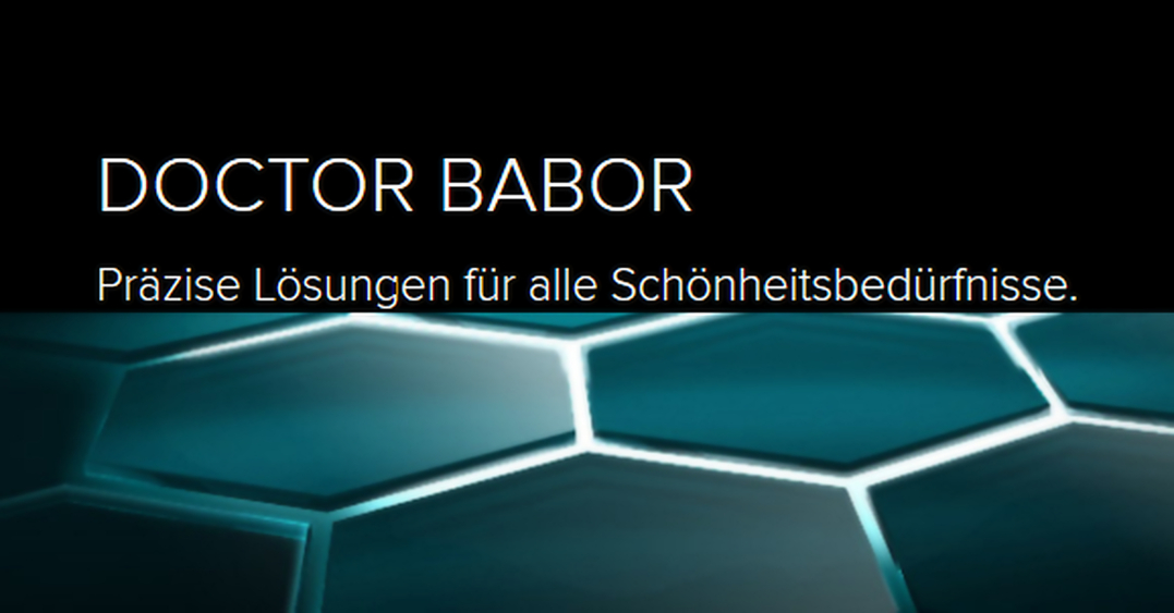 DOCTOR BABOR Reinigung