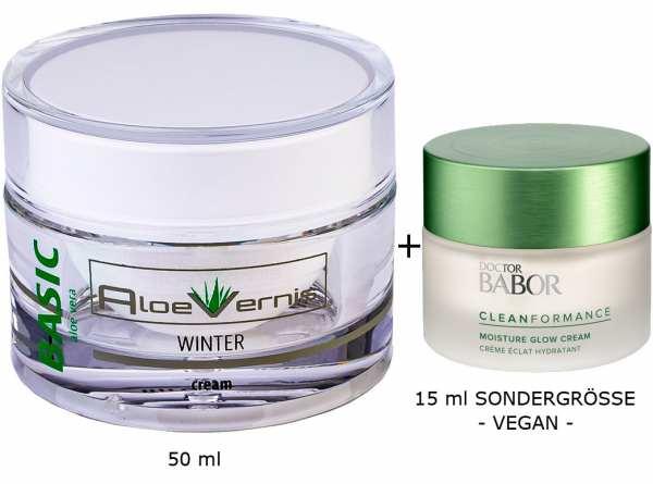 AloeVernis® BASIC aloe vera WINTER cream 50 ml plus DOCTOR BABOR Cleanformance Moisture Glow Day Cre