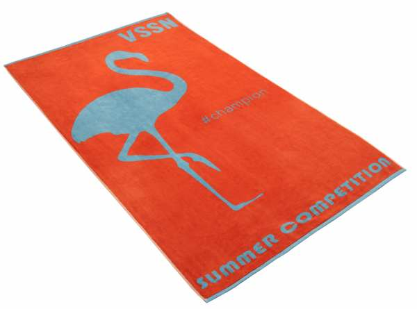 VOSSEN BEACH COLLECTION MISS FLAMINGO Strandtuch 100 x 180 cm