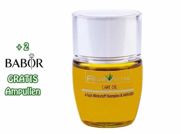 AloeVernis® BASIC aloe vera CARE OIL - Serum 30 ml - Avocado, Hyaluron, Collagen, Arganöl + 2 GRATI