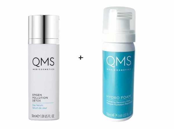 QMS MEDICOSMETICS EPIGEN POLLUTION DETOX Day Serum + QMS MEDICOSMETICS Hydro Foam Mask 50 ml Sonderg