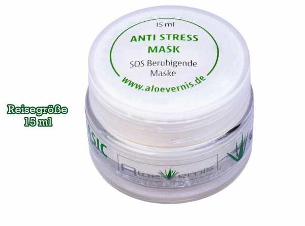 AloeVernis® BASIC aloe vera ANTI STRESS mask 15 ml Reisegröße - Hyaluron, Collagen, Arganöl