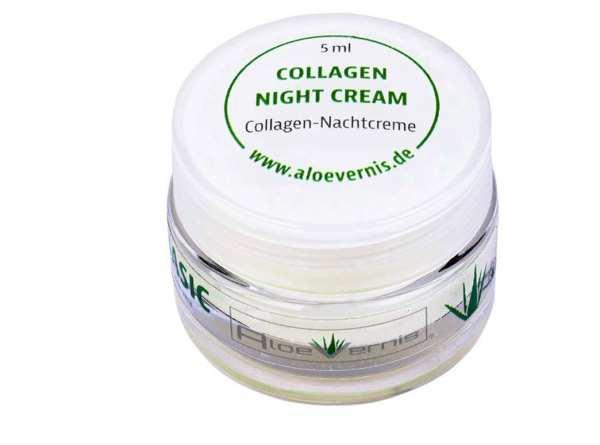AloeVernis® BASIC aloe vera COLLAGEN night cream 5 ml - Hyaluron, Collagen, Arganöl