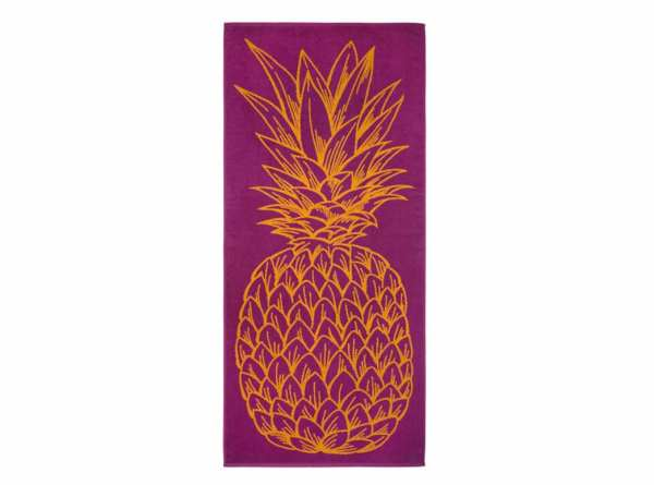 Dyckhoff Strandtuch Ananas 80 cm x 180 cm