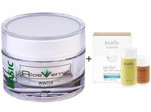 AloeVernis® BASIC aloe vera WINTER cream 50 ml - BABOR CLEANSING HY-ÖL 50 ml & Phytoactive Hydro