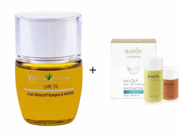 AloeVernis® BASIC aloe vera CARE OIL - Serum 30 ml - BABOR CLEANSING HY-ÖL 50 ml & Phytoactive Hydro
