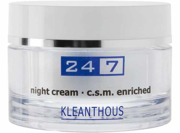 KLEANTHOUS 24/7 night cream c.s.m. enriched - Nachtpflege
