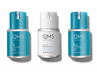 QMS MEDICOSMETICS COLLAGEN SYSTEM 3x 30 ml Day, Night Serum + Active Exfoliant 11%