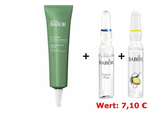 DOCTOR BABOR Cleanformance Awakening Eye Cream - mindert Augenschwellungen und kaschiert dunkle Auge