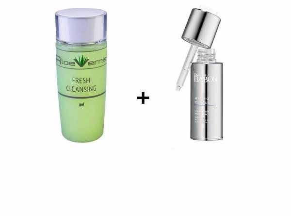 AloeVernis® BASIC aloe vera FRESH CLEANSING gel 120 ml + DOCTOR BABOR HYDRO CELLULAR 30 ml Hyaluron