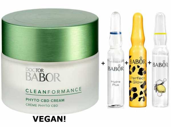 DOCTOR BABOR Cleanformance Phyto CBD 24h Cream - zur Beruhigung strapazierter Haut