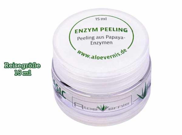 AloeVernis® BASIC aloe vera ENZYM peeling 15 ml Reisegröße - Hyaluron, Collagen, Arganöl